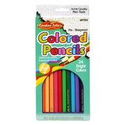 Charles Leonard™ 7 Thick Lead Presharpened Colored Pencil, 24/Pack