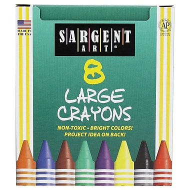 Sargent Art® 8 Count Tuck Box Large Crayons
