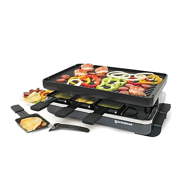 Swissmar® 8 Person Classic Raclette with Cast Iron Party Grill