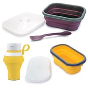 Swissmar® Pop 'N Go Collapsible Silicone Snack Boxes and Travel Bottle