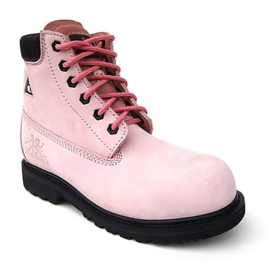Moxie Trades Betsy Xtreme Ladies CSA/ESR Metal Free Work Boots, Size 6, Pink