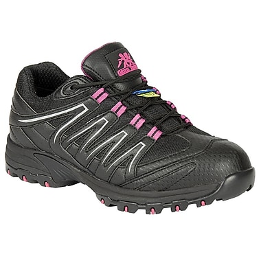Moxie Trades Kris Ladies CSA Static Dissipating Runner, Size 8.5, Black/Magenta