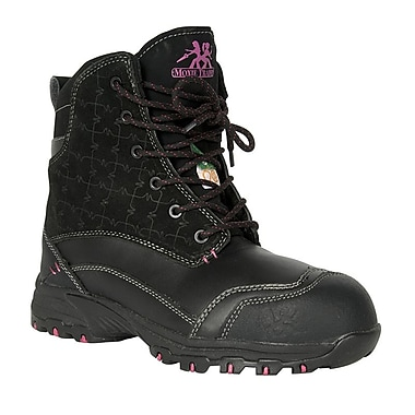 Moxie Trades Lotus Ladies CSA/ESR Metal Free Winter Work Boots, Size 6, Black