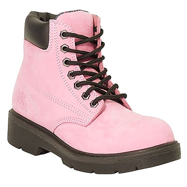Moxie Trades Alice Ladies CSA/ESR Waterproof Industrial Work Boots, Size 8, Pink