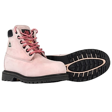 Moxie Trades Betsy Xtreme Ladies CSA/ESR Metal Free Work Boots, Size 7.5, Pink