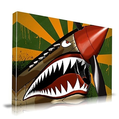 Maxwell Dickson Warhawk Graphic Art on Wrapped Canvas; 24'' H x 36'' W