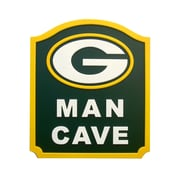 Fan Creations NFL Man Cave Shield Textual Art Plaque; Green Bay Packers