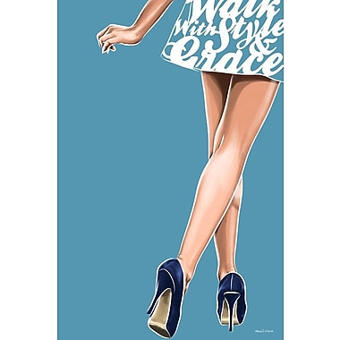 Maxwell Dickson Style and Grace Wall Graphic Art on Canvas; 24'' H x 18'' W