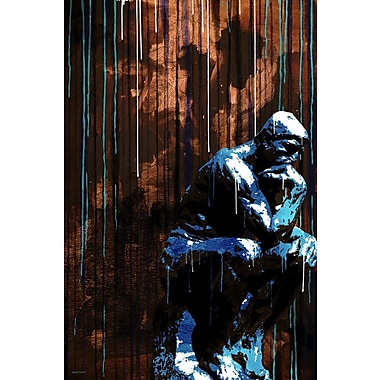 Maxwell Dickson The Thinker Graphic Art on Wrapped Canvas; 20'' H x 16'' W