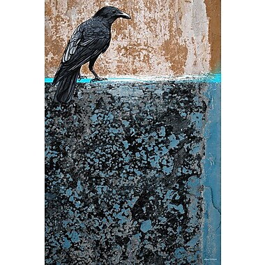Maxwell Dickson Crow Painting Print on Wrapped Canvas; 24'' H x 18'' W