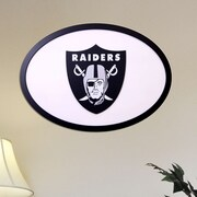 Fan Creations NFL Logo Textual Art Plaque; Oakland Raiders