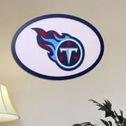 Fan Creations NFL Logo Textual Art Plaque; Tennessee Titans