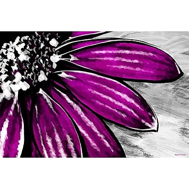 Maxwell Dickson Purple Petals Painting Print on Wrapped Canvas; 16'' H x 20'' W