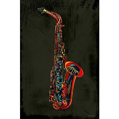 Maxwell Dickson ''SAX'' Graphic Art on Canvas; 48'' H x 36'' W