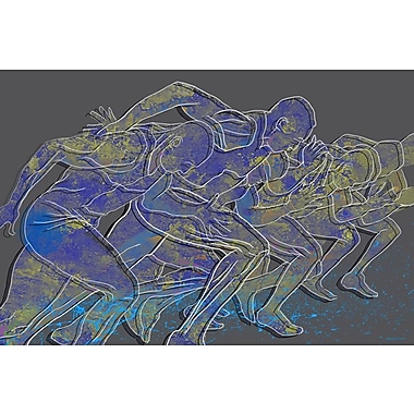 Maxwell Dickson Rat Race Graphic Art on Wrapped Canvas; 24'' H x 36'' W