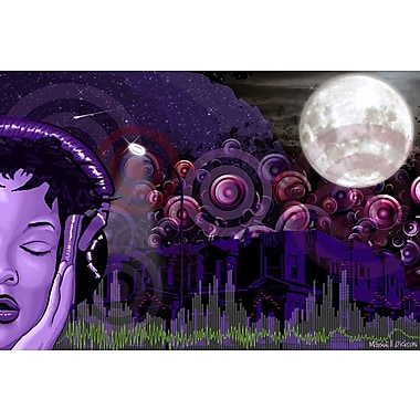 Maxwell Dickson Midnight Vibes Graphic Art on Wrapped Canvas; 24'' H x 36'' W