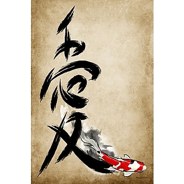 Maxwell Dickson Love Kanji Painting Print on Wrapped Canvas; 24'' H x 18'' W