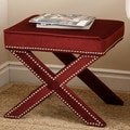 Abbyson Living Monica Pedersen Collection Capri Stool; Burgundy