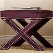 Abbyson Living Monica Pedersen Collection Capri Stool; Purple