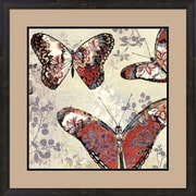 Evive Designs Patterned Butterflies II by Asia Jensen Framed Painting Print