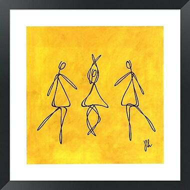 Evive Designs Joy - Dancers by Joyce McAndrews Framed Graphic Art