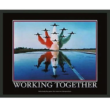 Frames By Mail Motivational Working Together Framed Photographic Print
