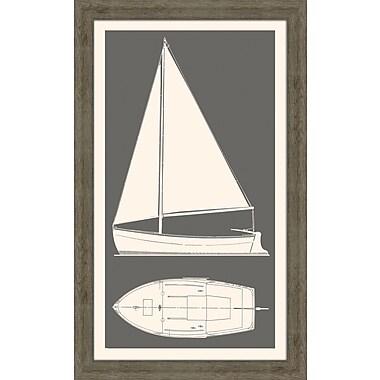 Melissa Van Hise Sail Boat II Framed Graphic Art; Kendal Charcol