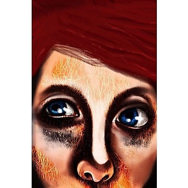 Maxwell Dickson Eye Girl Painting Print on Wrapped Canvas; 20'' H x 16'' W