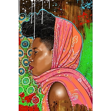 Maxwell Dickson Bassa Girl Painting Print on Wrapped Canvas; 36'' H x 24'' W