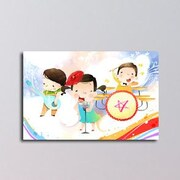 Maxwell Dickson Rock Star Kids Graphic Art on Canvas; 20'' H x 30'' W x 1.5'' D