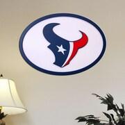 Fan Creations NFL Logo Textual Art Plaque; Houston Texans