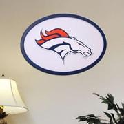 Fan Creations NFL Logo Graphic Art Plaque; Denver Broncos