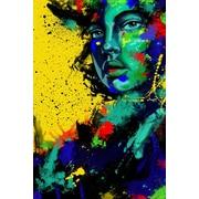 Maxwell Dickson Blue Eye Girl Painting Print on Canvas; 36'' H x 24'' W