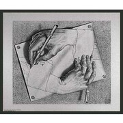 Frames By Mail 'Framed Escher Drawing Hands' by M.C. Escher Framed Painting Print