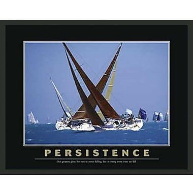 Frames By Mail Sailboat Motivational Persistence Framed Photographic Print