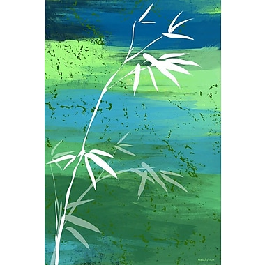 Maxwell Dickson ''Osaka Green'' Graphic Art on Canvas; 40'' H x 60'' W