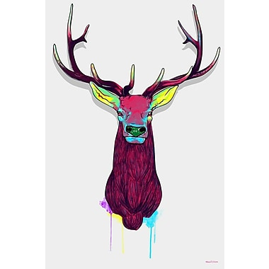 Maxwell Dickson Elks Graphic Art on Wrapped Canvas; 20'' H x 16'' W