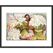 Frames By Mail Rivera Vendedora El Alcatraces by Diego Rivera Framed Painting Print