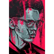 Maxwell Dickson 'Flush' Portrait Graphic Art on Wrapped Canvas; 20'' H x 16'' W x 1.5'' D