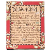 Glory Haus To Love A Child Table Top Textual Art on Canvas