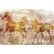 Maxwell Dickson ''Horses on the Wall'' Painting Prints on Canvas; 40'' H x 60'' W