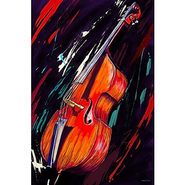 Maxwell Dickson Double Bass Painting Print on Wrapped Canvas; 36'' H x 24'' W