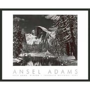Frames By Mail 'Half Dome Winter' by Ansel Adams Framed Photographic Print