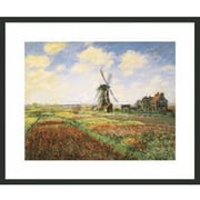 Frames By Mail 'Tulip Fields w/ Windmill' by Claude Monet Framed Painting Print