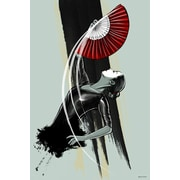 Maxwell Dickson Fan Dancer Painting Print on Canvas; 20'' H x 16'' W