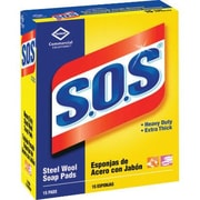 S.O.S Heavy-Duty Steel Wool Soap Pad 15 Pads Per Box