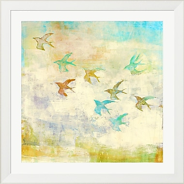 Evive Designs Oiseaux 1 by Maeve Harris Framed Painting Print