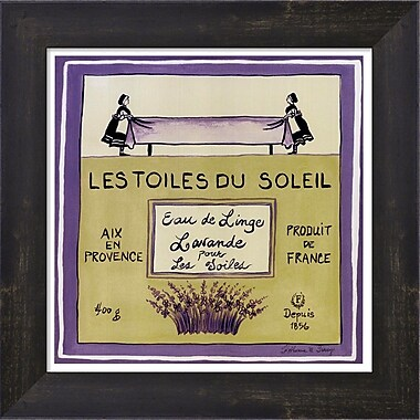 Evive Designs Les Toiles Du Soleil by Katharine Gracey Framed Vintage Advertisement