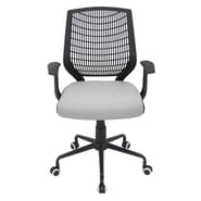 LumiSource Mid-Back Network Office Chair; Black / Silver