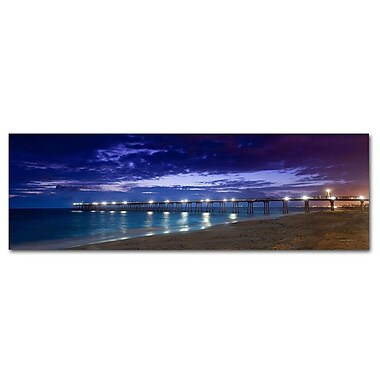 Great Big Photos Heromsa Beach Pier Photographic Print on Canvas